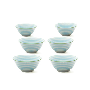 Sen Colors Bowl Blue Set Of 6