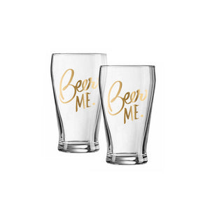 Beer Me Glass Set Of 2