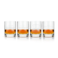 Whiskey Crystal Tumbler Set Of 4