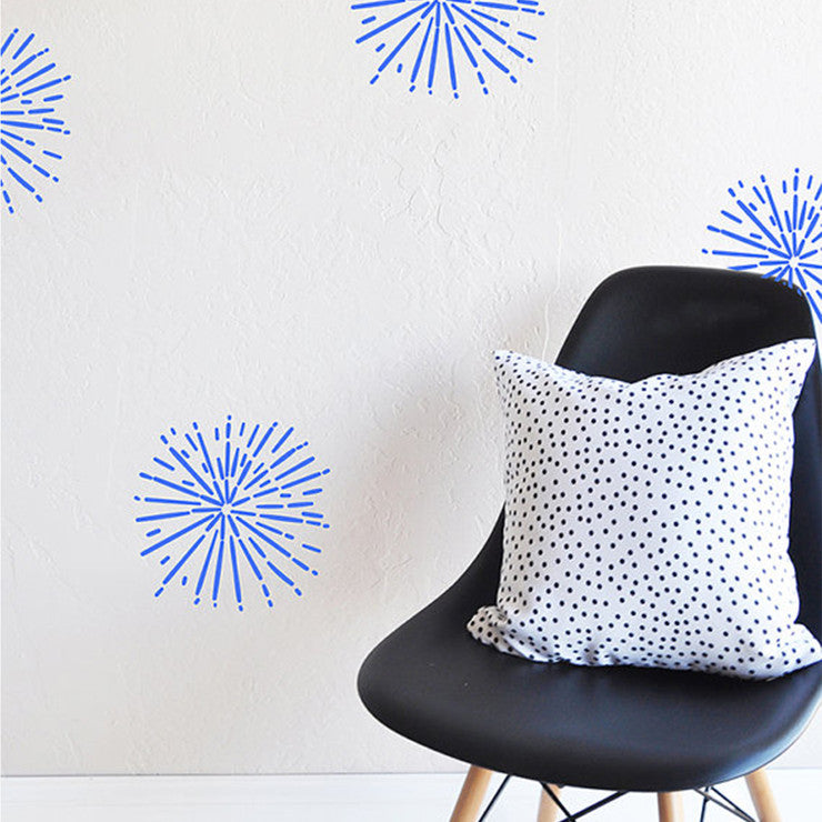 Hand Painted Burst Wall Decals