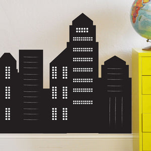Skyscraper Chalkboard Wall Decal