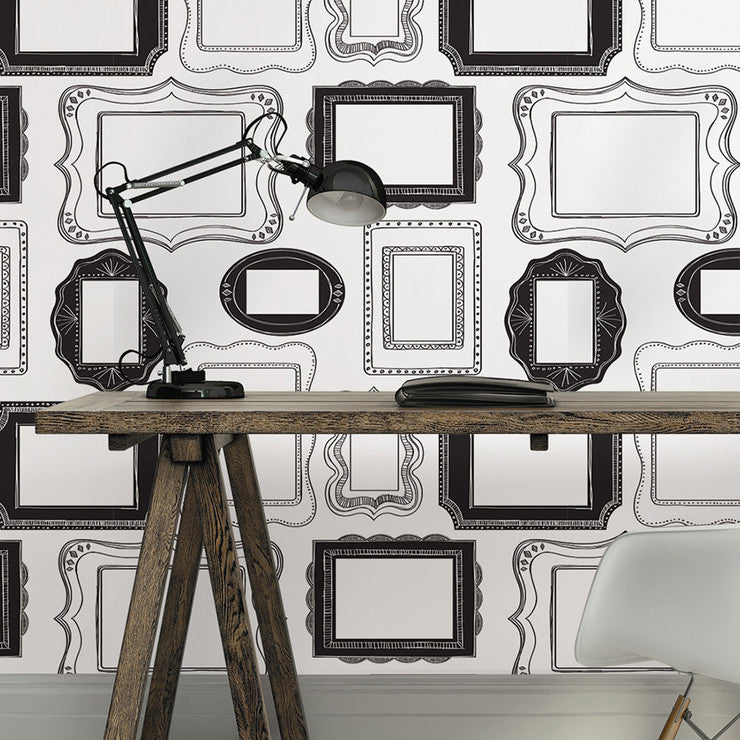 Photo Frames Removable Wallpaper