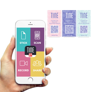 TINE Pastel Video Message Tags