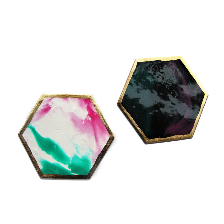 Juicy Galaxy Coasters Set Of 2