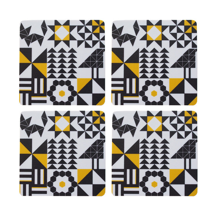 Fox & Finch Coasters Set Of 4