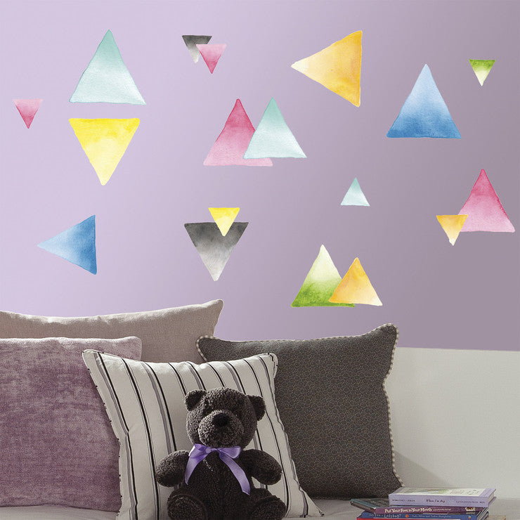 Watercolor Triangle Wall Decals