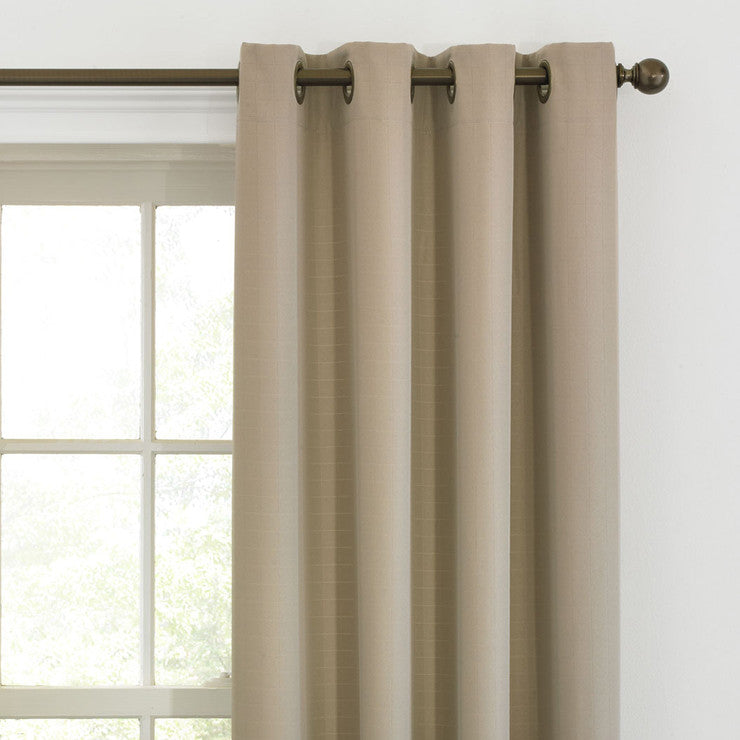 Grommet Window Panel Taupe