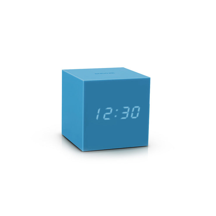 Gravity Cube Click Clock Blue