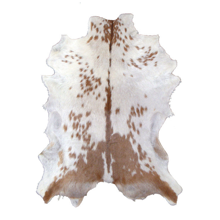 Goat Hide Brown And White