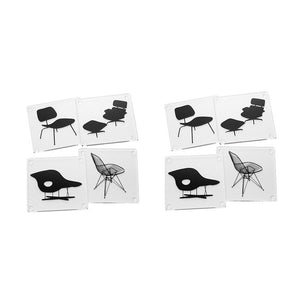 Eames® Chairs Coasters Set Of 8