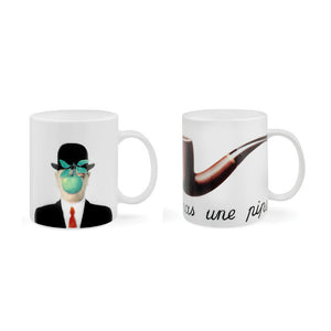 Magritte Pipe & Son Of Man Mugs