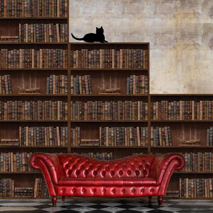 Vintage Library Wall Decals
