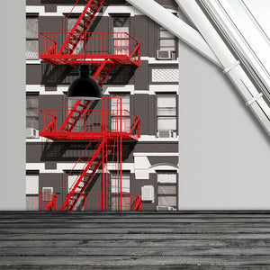 Fire Escape Wall Decal