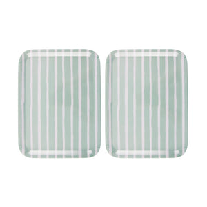 Striped Tray Dusty Mint Pair