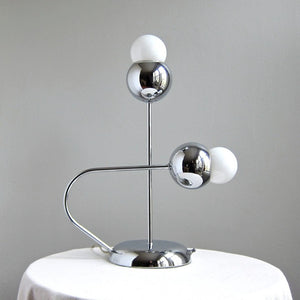 1970s Chromed Metal Lamp