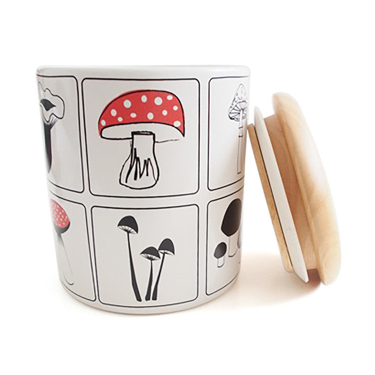 Forest Fungi Ceramic Canister