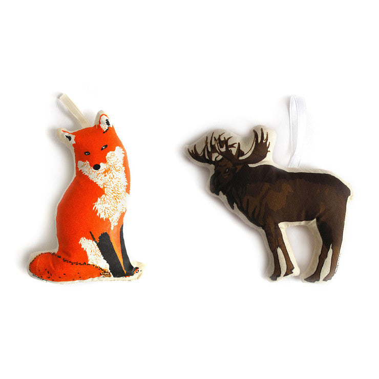 Fox & Moose Ornament