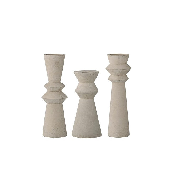 Cement Candle Holder Set
