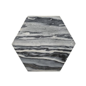 Marble Hex Cutting Board Gray