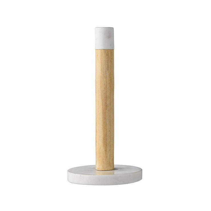 Wood & Marble Paper Towel Holder