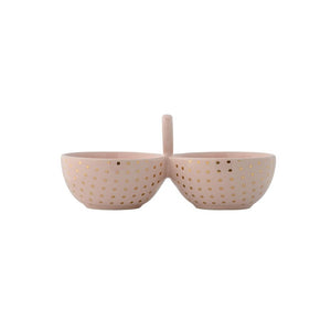 Henrietta Double Bowl Gold Dot