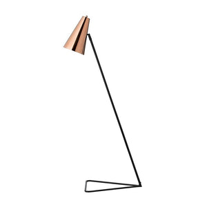 Floor Lamp Black Copper Shade