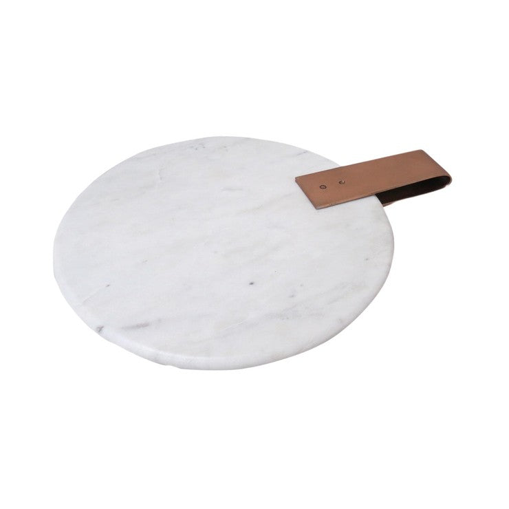 Marble Tray Copper Strap Small