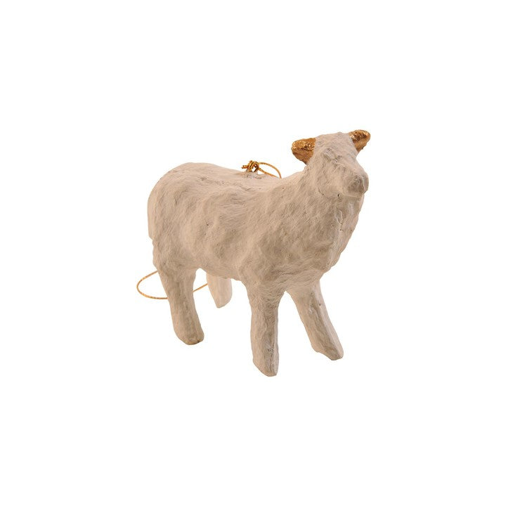 Sheep Ornament White/Gold Ears