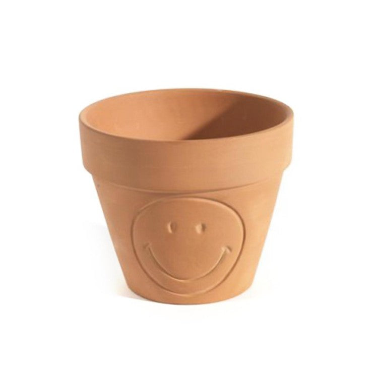 Smiley Pot Terracotta Small