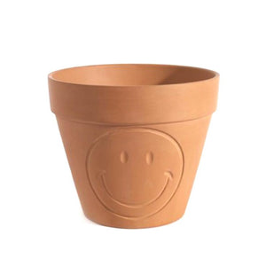 Smiley Pot Terracotta Large