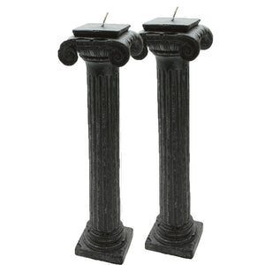Column Candle Black 2 pack