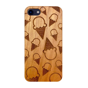 Ice Cream Wooden iPhone Case