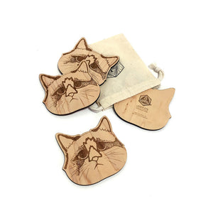 Coasters - Cats - Set of 4