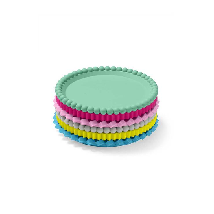 Geo Stacking Coasters Pastels