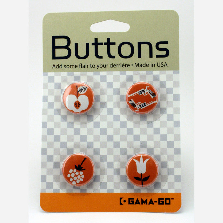Guns and Apples Button Pack