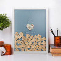 Personalized Map & Wedding Box