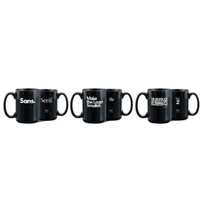3 Assorted Mugs in Black