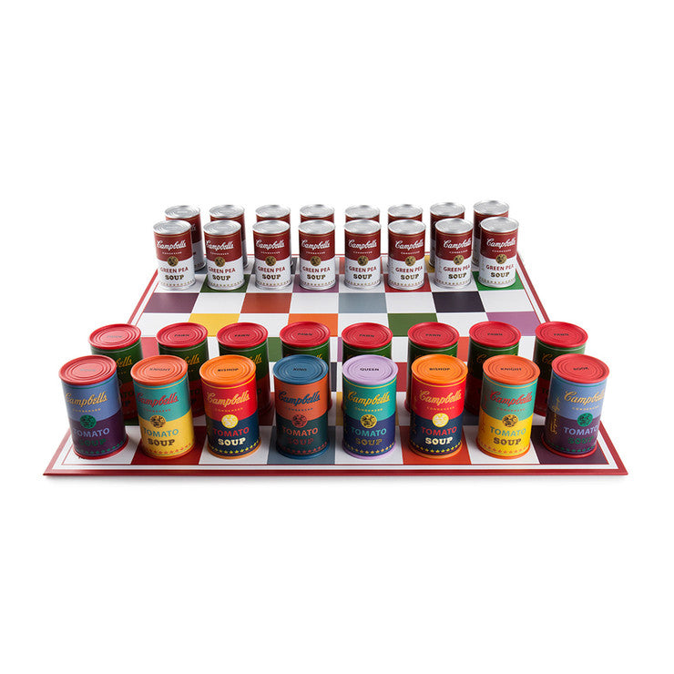 Warhol Soup Can Chess Set