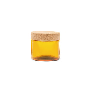 Button Canister Wide Gold