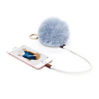 Power POMPOM Bag Charm & Charger