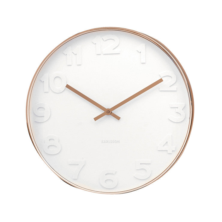 Mr. White Numbers Wall Clock