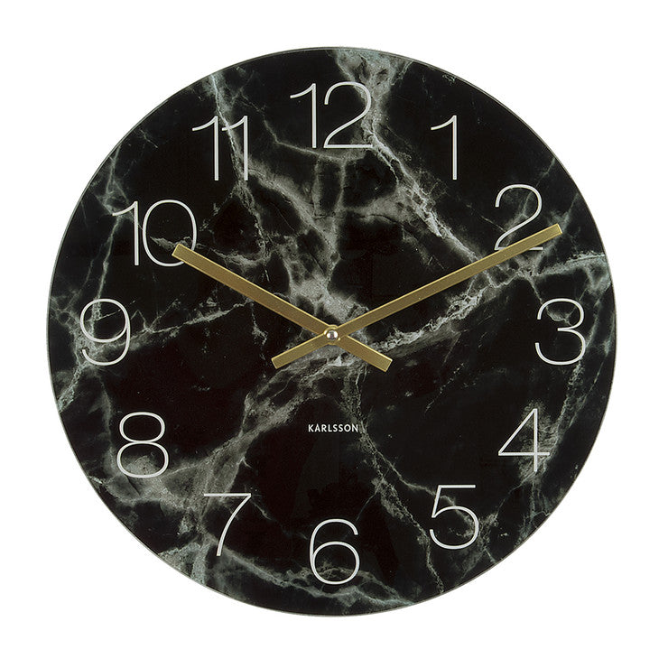 Glass Marble Wall Clock