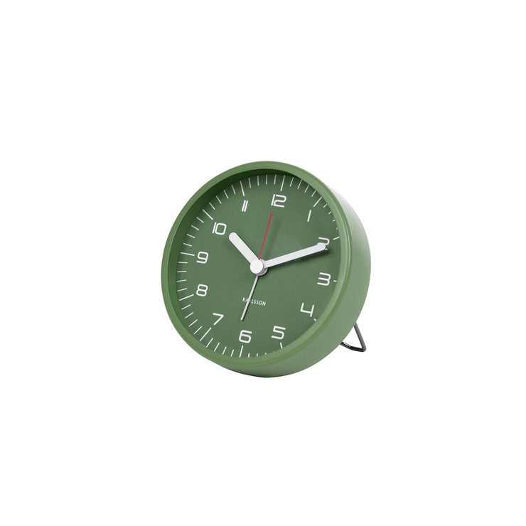 Rounded Steel Alarm Clock