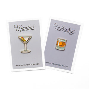 Martini/Whiskey Pin Set