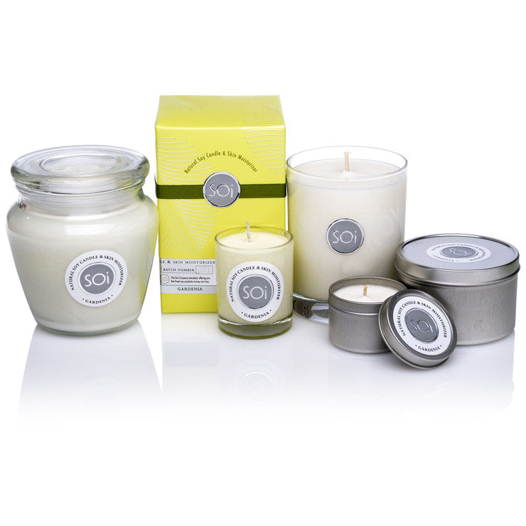 Gardenia 5 Pack Soy Candles