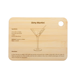 Dirty Martini Cocktail Board