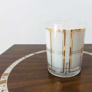 Gold Vintage Glass Candle