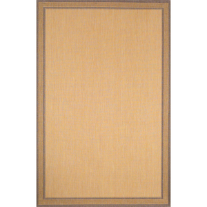 Brown Stripe Border Rug