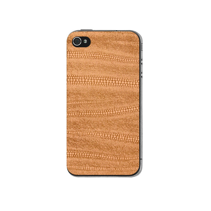 Peach Leather iPhone Back