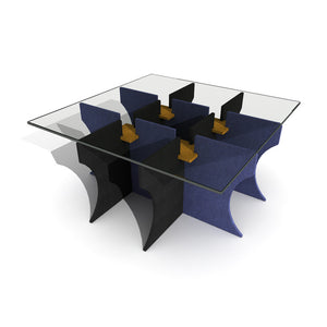 Black+Blue TicTacTWO Table